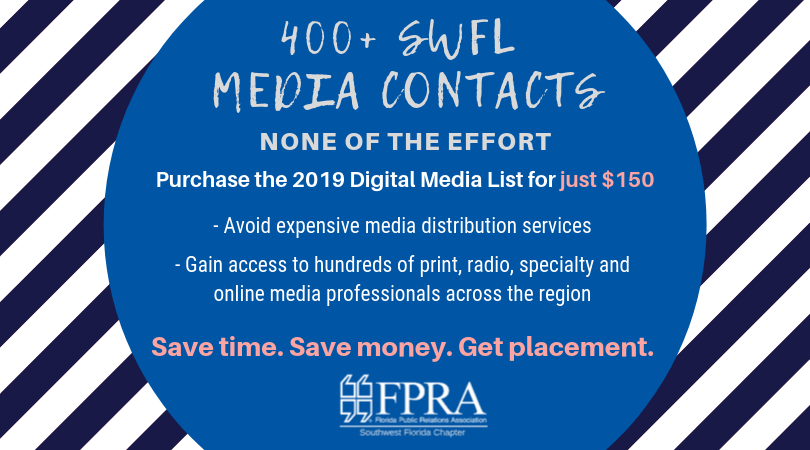 purchase 2019 FPRA media list by using the contact form to the left